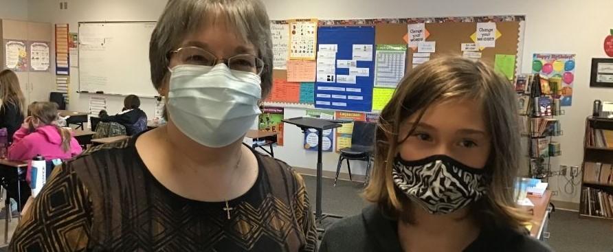 Miss Gishpert and Student