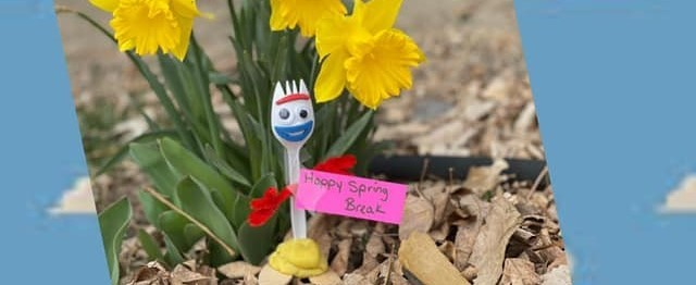 Happy Spring from Forky!