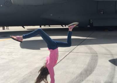 student showcase handstand
