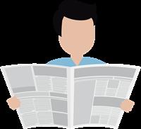 Clipart Man reading newspaper